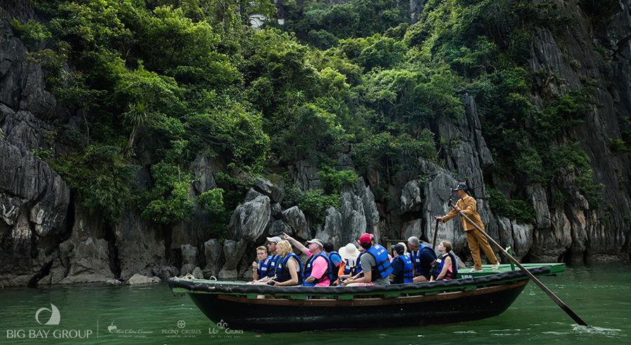 Bamboo boat trip